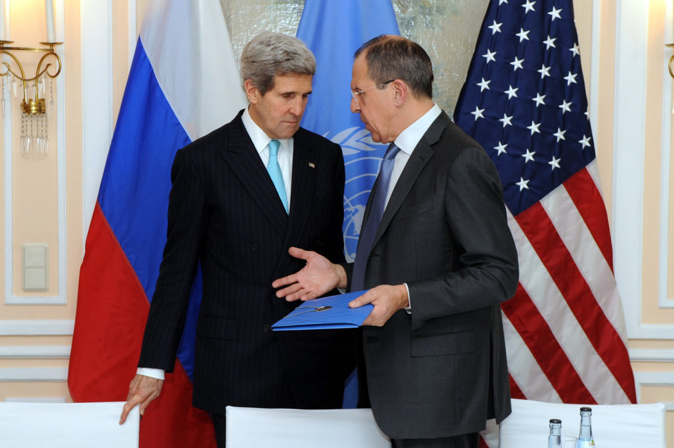 Secretary Kerry Speaks With Russian Foreign Minister Lavrov at Munich Security Conference