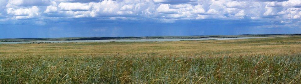 Prairie overlooking Lake Bowdoin