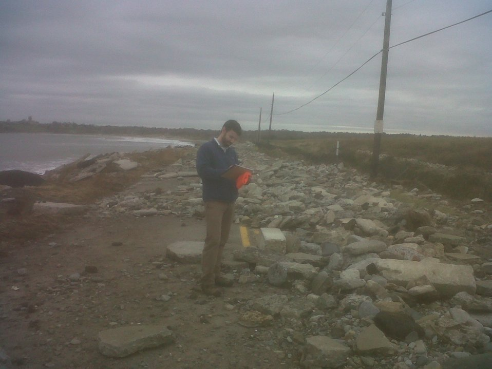 Damage inspection at Sachuest Point National Wildlife Refuge (RI)