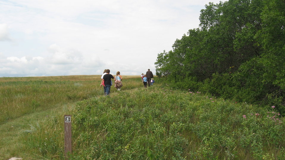 Group Hiking on Munch's Coulee National Hiking Trail
