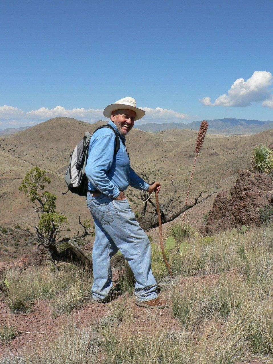 John Bertrand on Chupadera Peak Trail