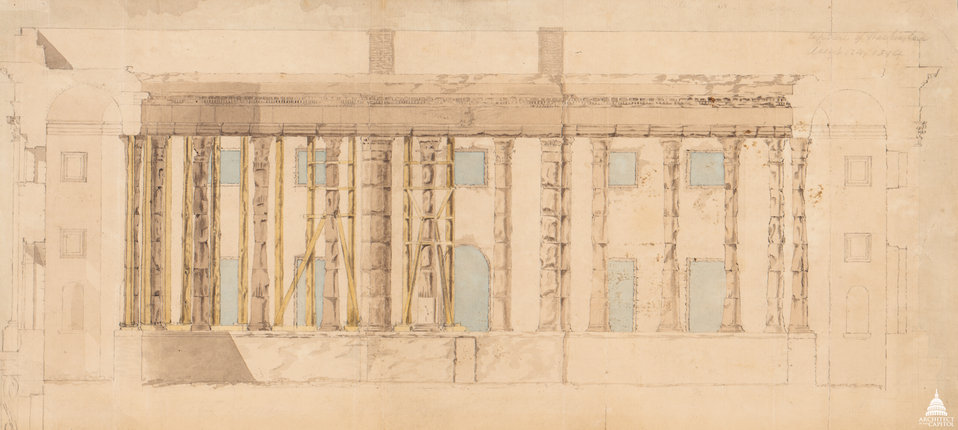 Ruins of House Chamber after Fire of 1814