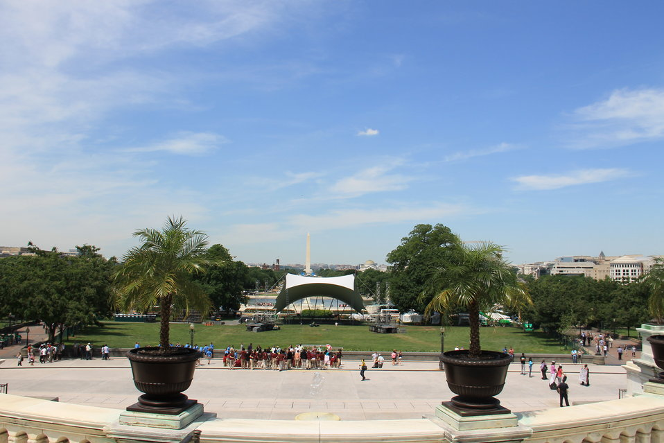 Memorial Day Concert Setup on Capitol West Lawn