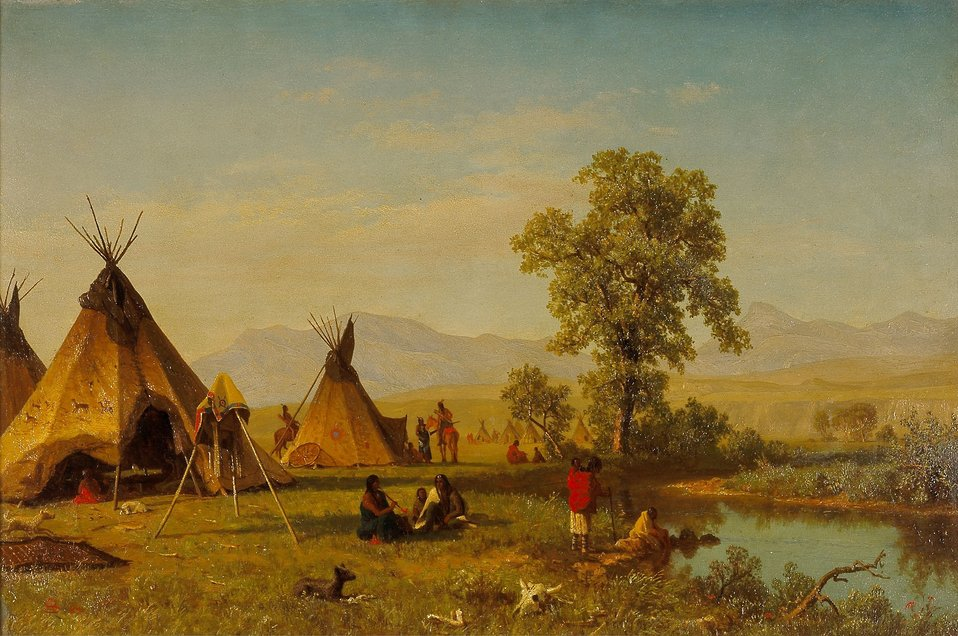 Albert Bierstadt - Sioux Village near Fort Laramie.jpg