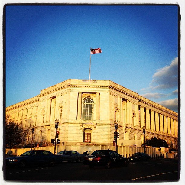Breezy evening on Capitol Hill.