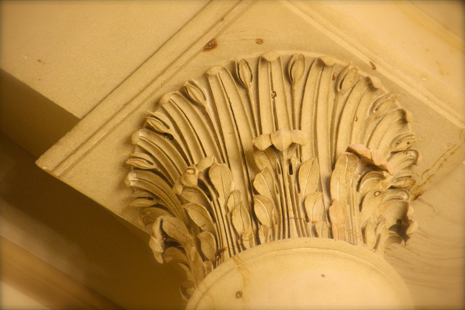 Water Leaves Corinthian Columns