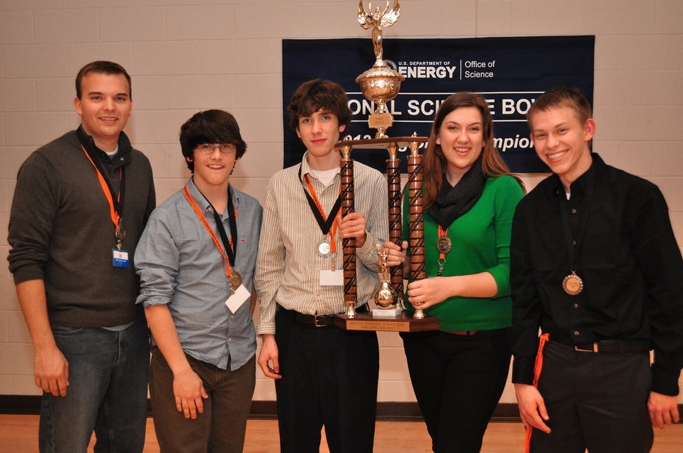 Summit High 1st Place Tennessee Science Bowl 2013