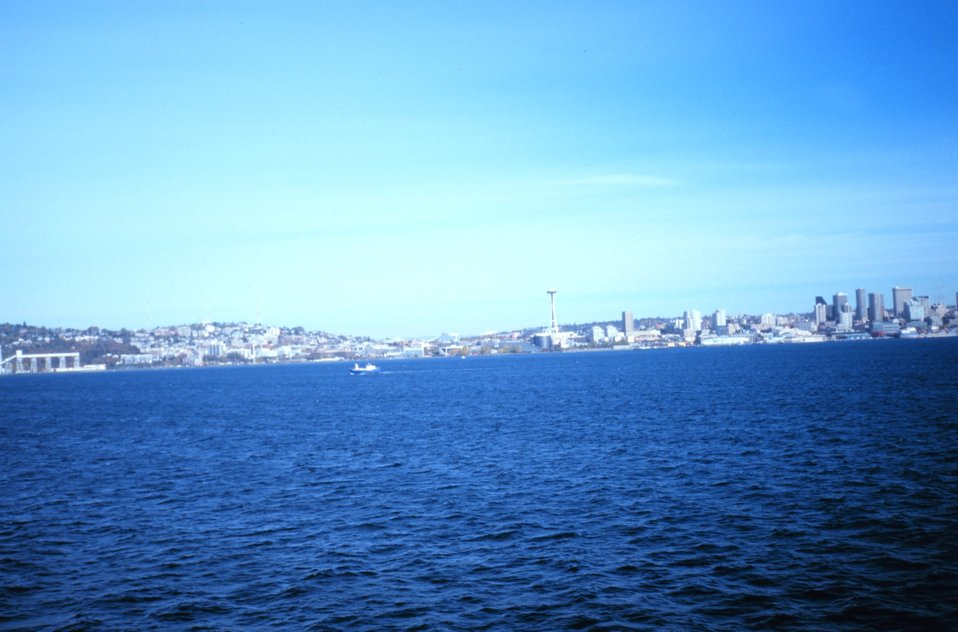 The Seattle skyline as seen from the NOAA Ship RONALD H. BROWN