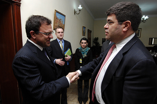 Wolin and Afghan Finance Minister Zakhilwal