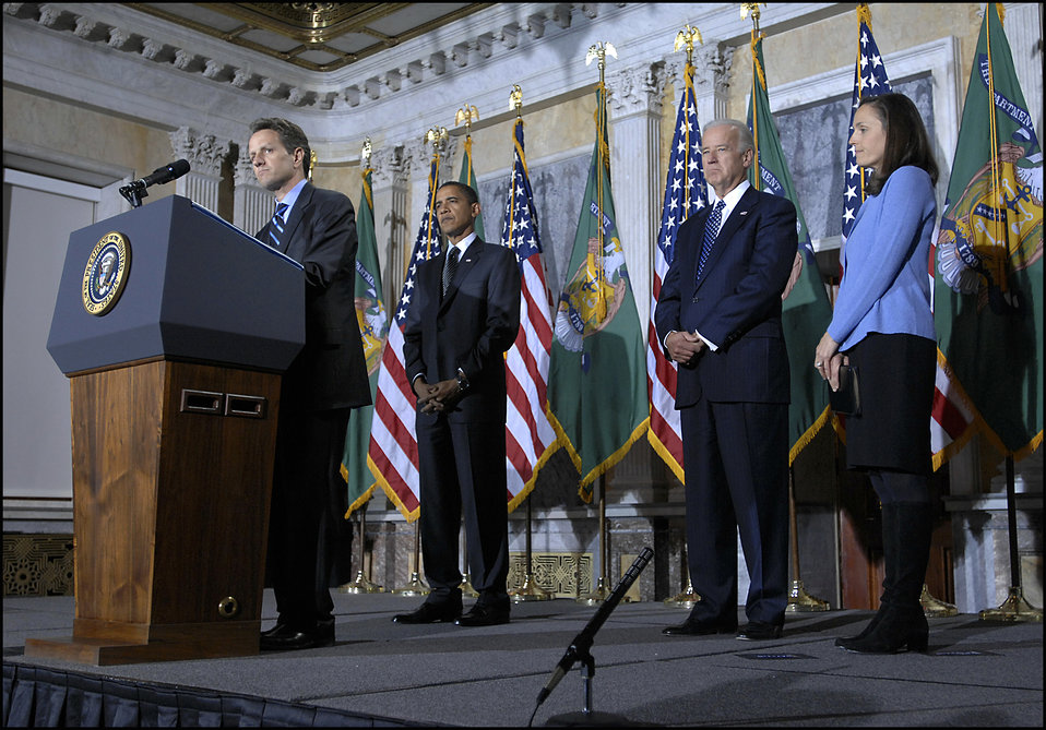 Secretary Geithner's swearing-in remarks