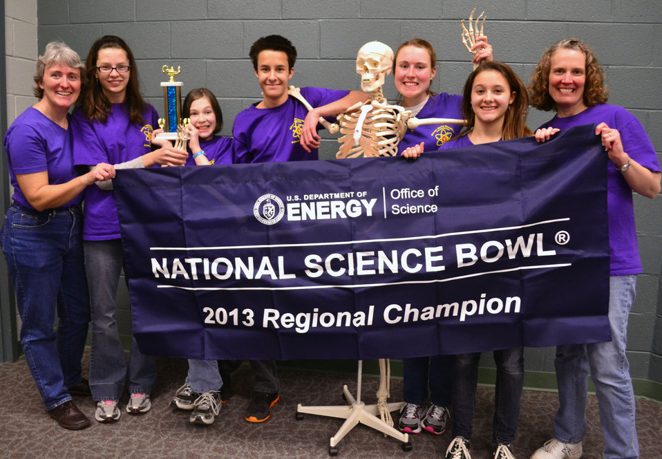 Blount Home Educational Association First Place  DOE Tennessee Middle School Science Bowl Oak Ridge