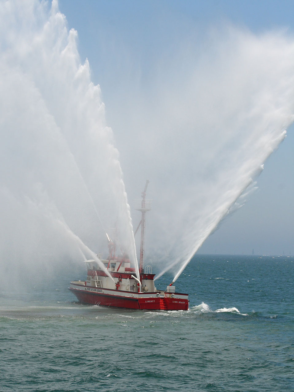 Harbor fire vessel