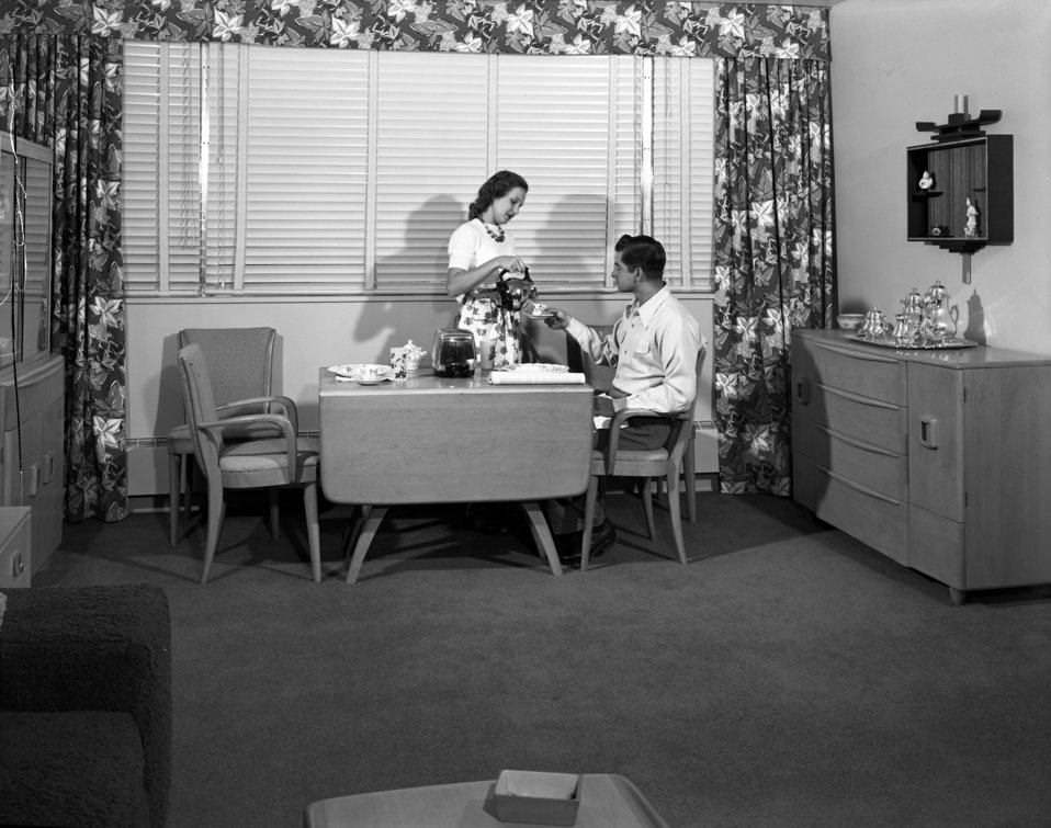 Interior of Garden Apartments Oak Ridge 1949