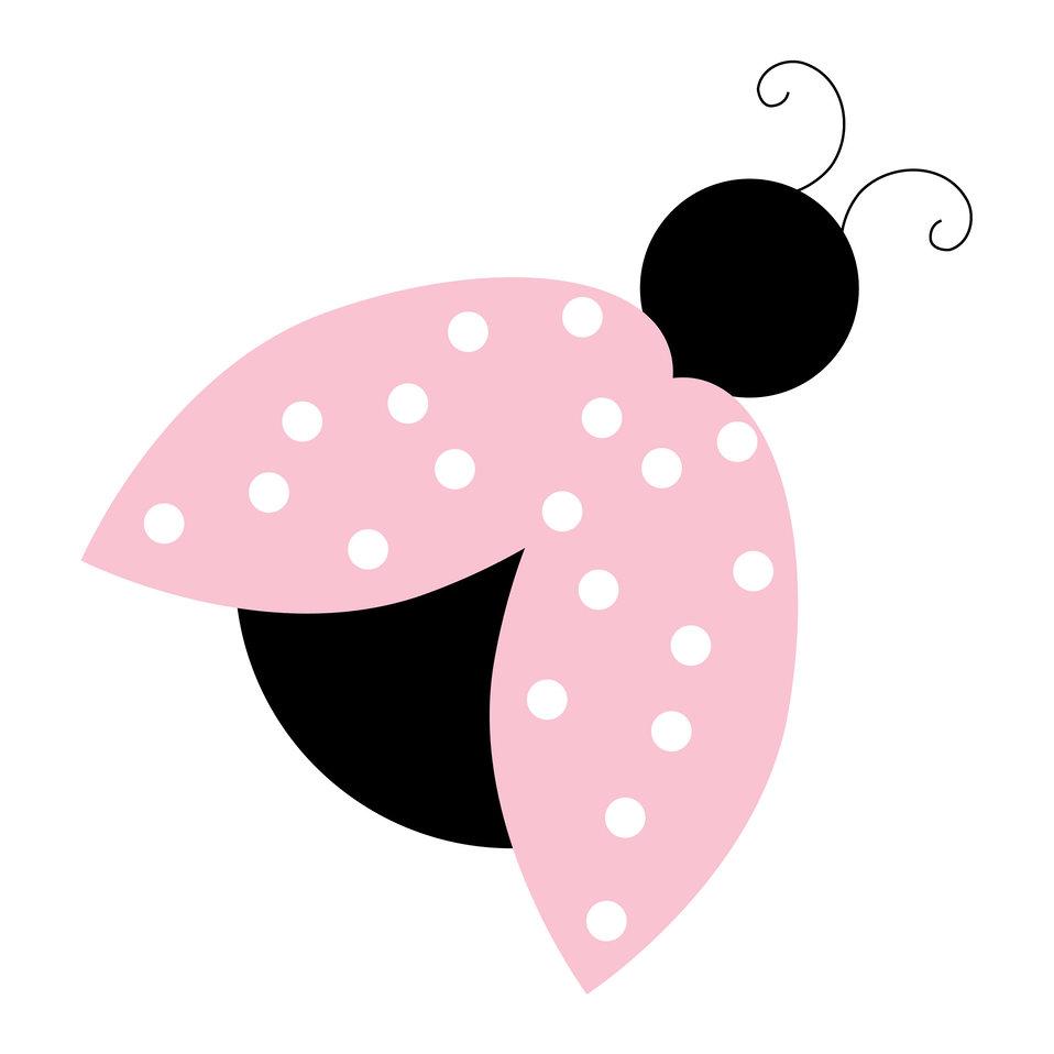 Ladybug pink clipart