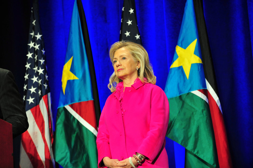 Secretary Clinton Delivers Remarks at International Engagement Conference for South Sudan