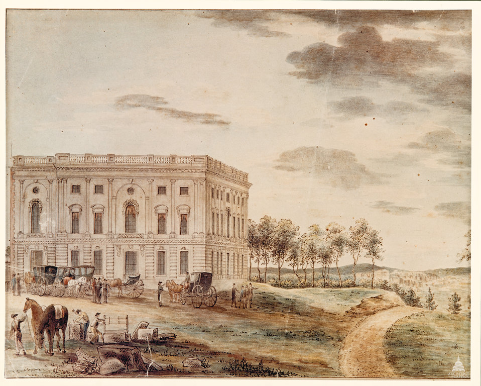East Front of the Capitol - 1800