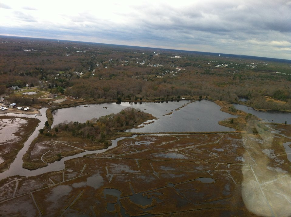 Aerial photo of Barnegat impoundment at Edwin B. Forsythe National Wildlife Refuge (NJ)