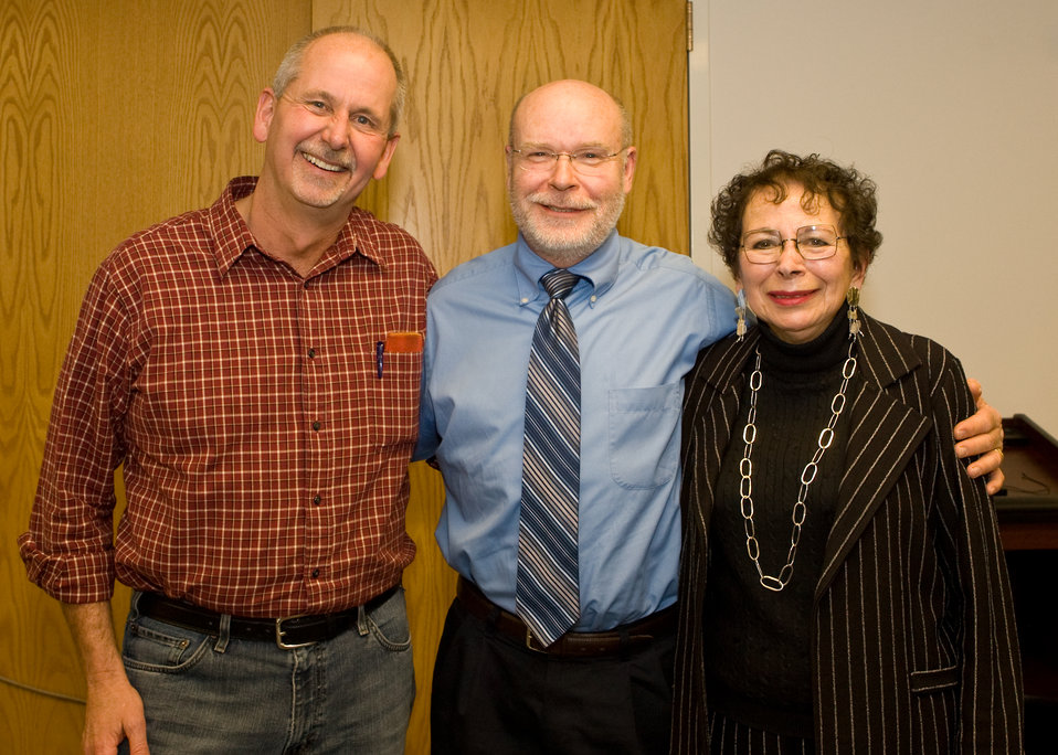(from left) Ed Bangs, Steve Fritts, Margot Zallen
