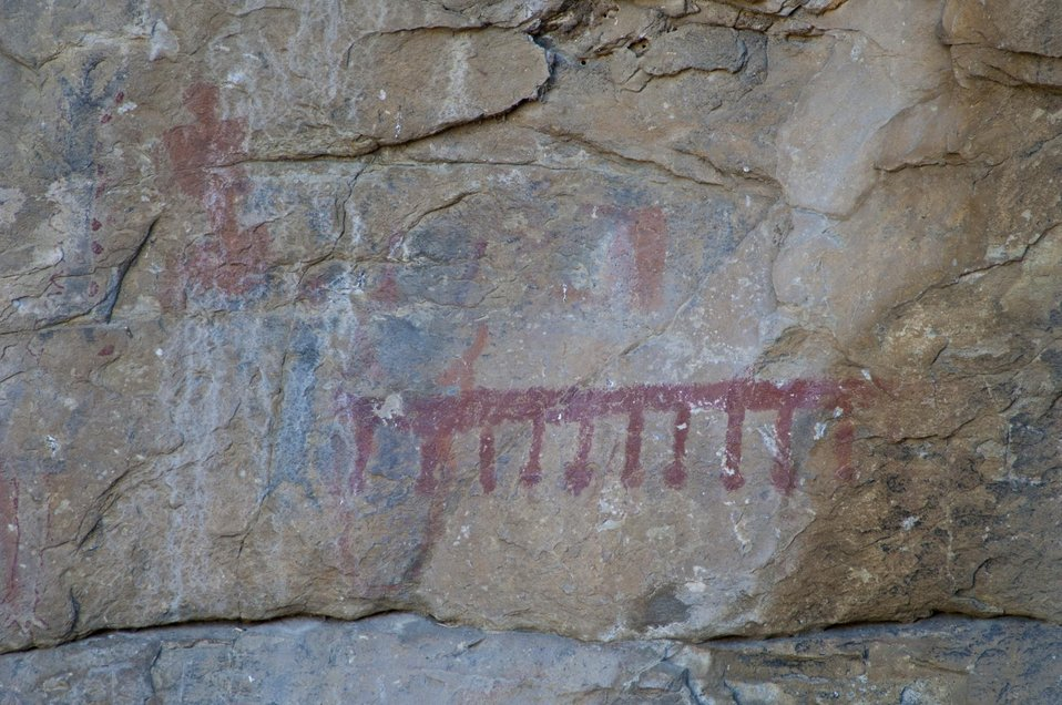 Pictograph at Painted Rock, Carrizo Plain 8