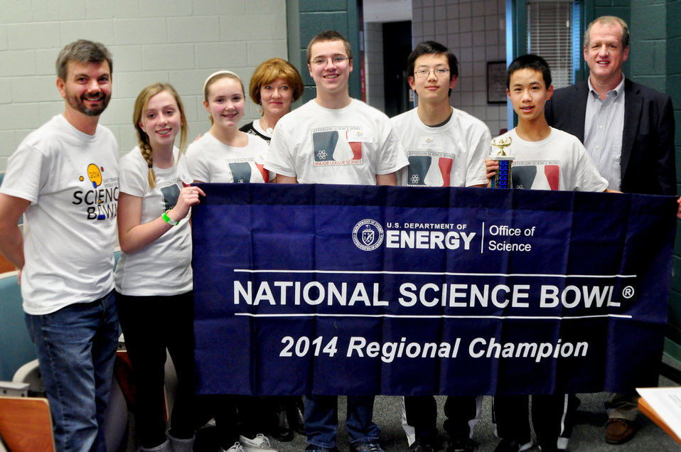 Jefferson Middle First Place DOE Middle School Science Bowl