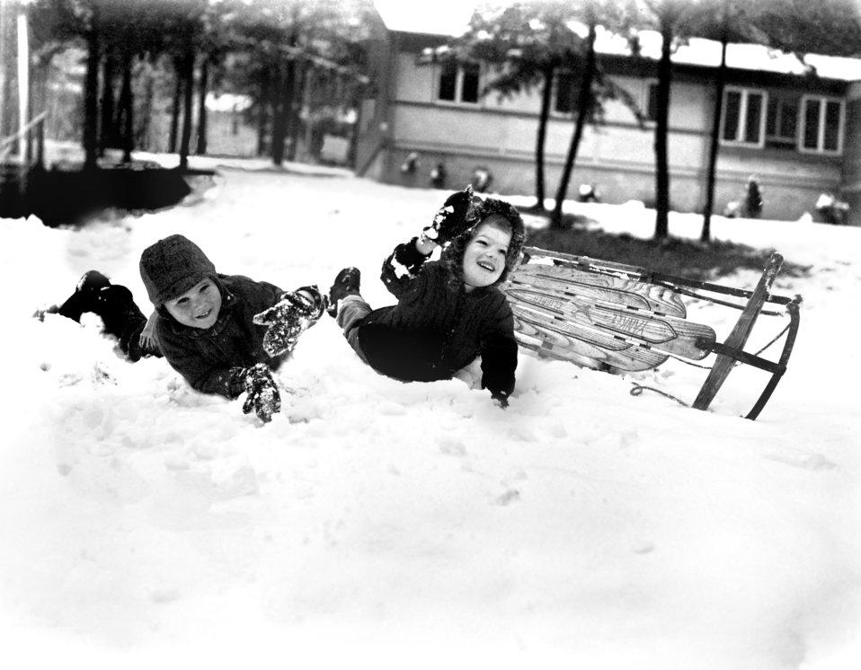 Snow Play in Oak Ridge 1947