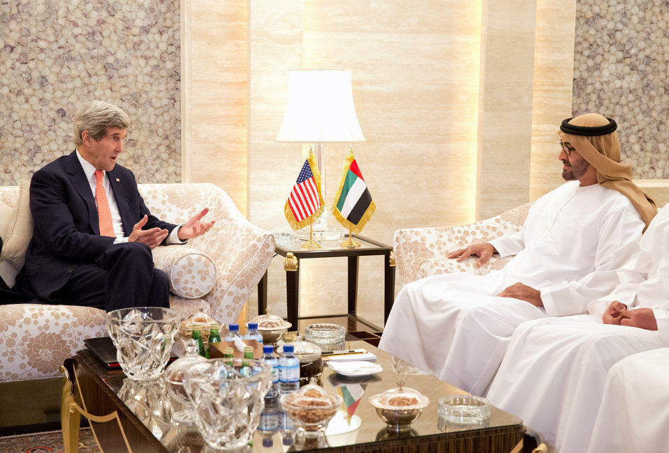 Secretary Kerry Meets With UAE Crown Prince Sheikh Mohammed Bin Zayed Al Nahyan