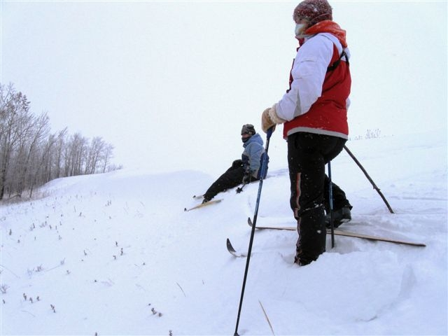 Volunteers on Skis