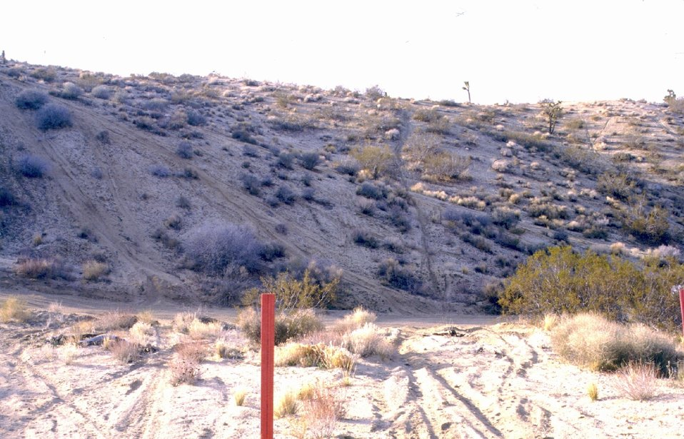 Goes with New-7 ongoing damage to hillsides caused by off route vehicle travel (trespass)