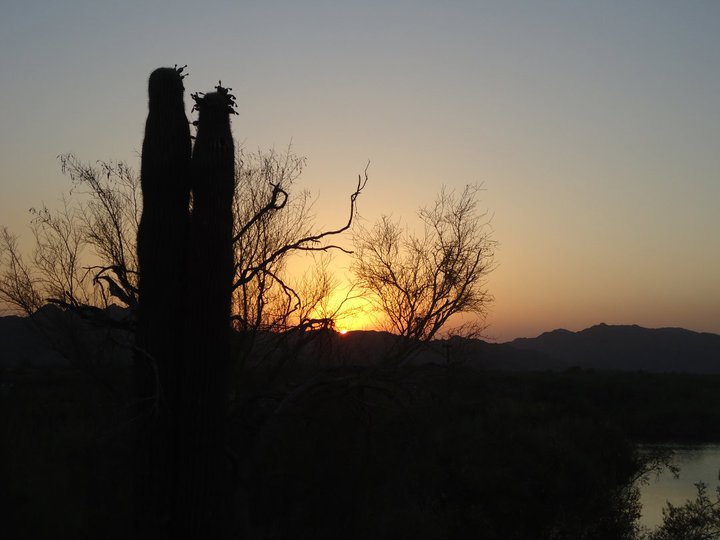sunset at Imperial National Wildlife Refuge, AZ