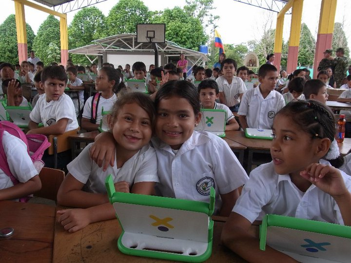 Young Colombian Children Smile for a Photo