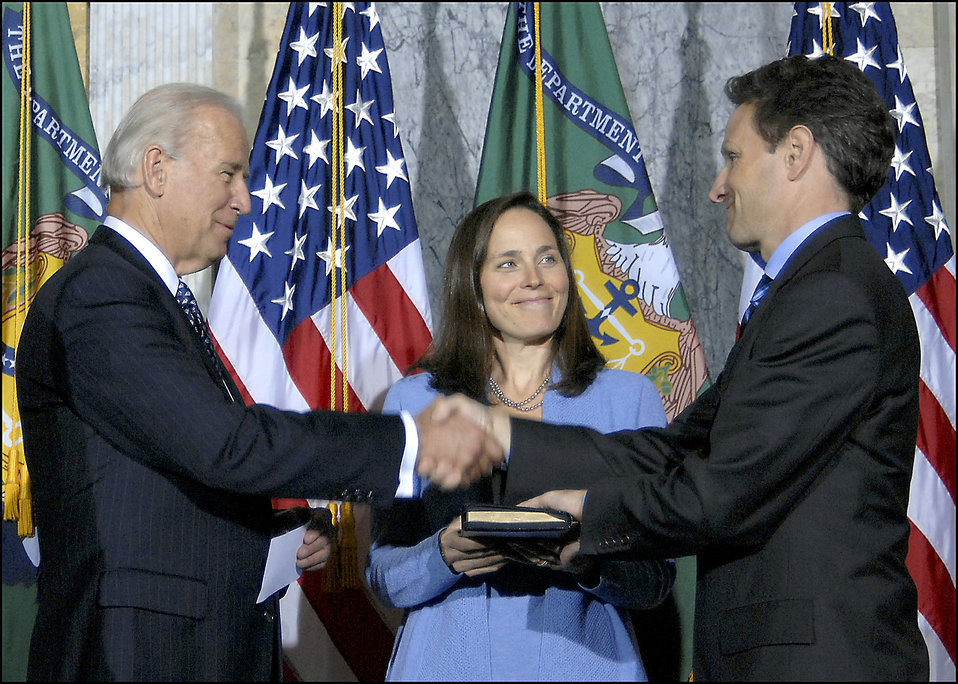 Secretary Geithner being sworn-in