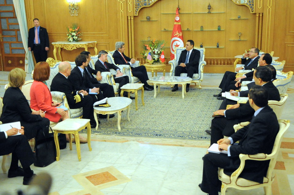 Secretary Kerry Meets With Tunisian Prime Minister Joma'a