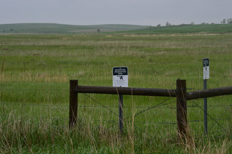 Waterfowl Production Area signs