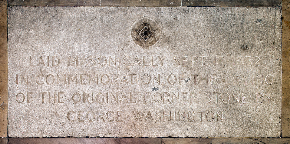 Masonic Commemorative Cornerstone Plaque