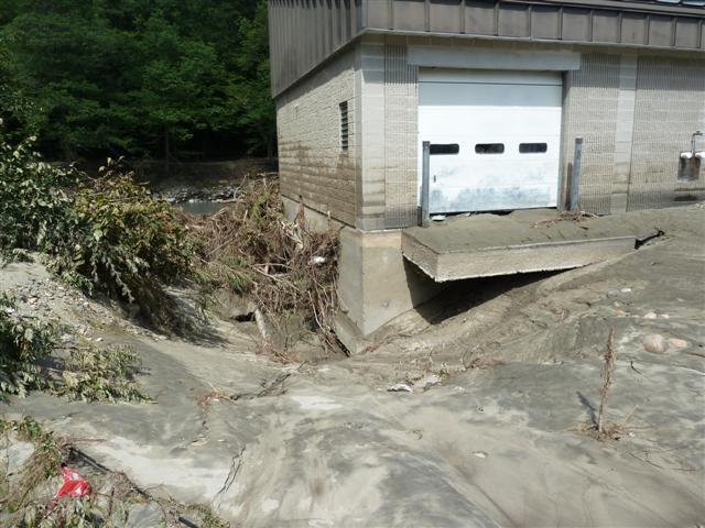 Damage at White River NFH - Bethel, VT