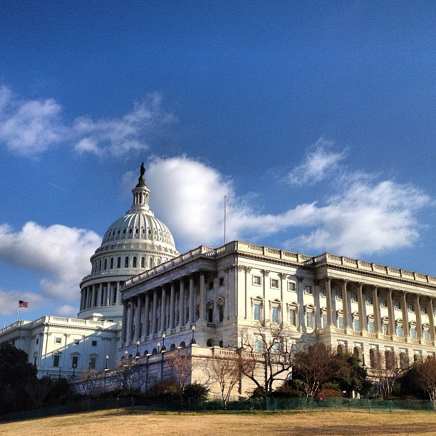 Frigid February morning on the Capitol Grounds.