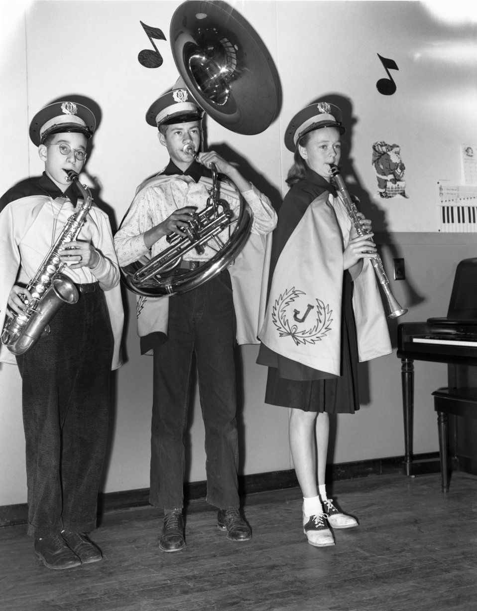 Jefferson Jr. High Band Oak Ridge 1947