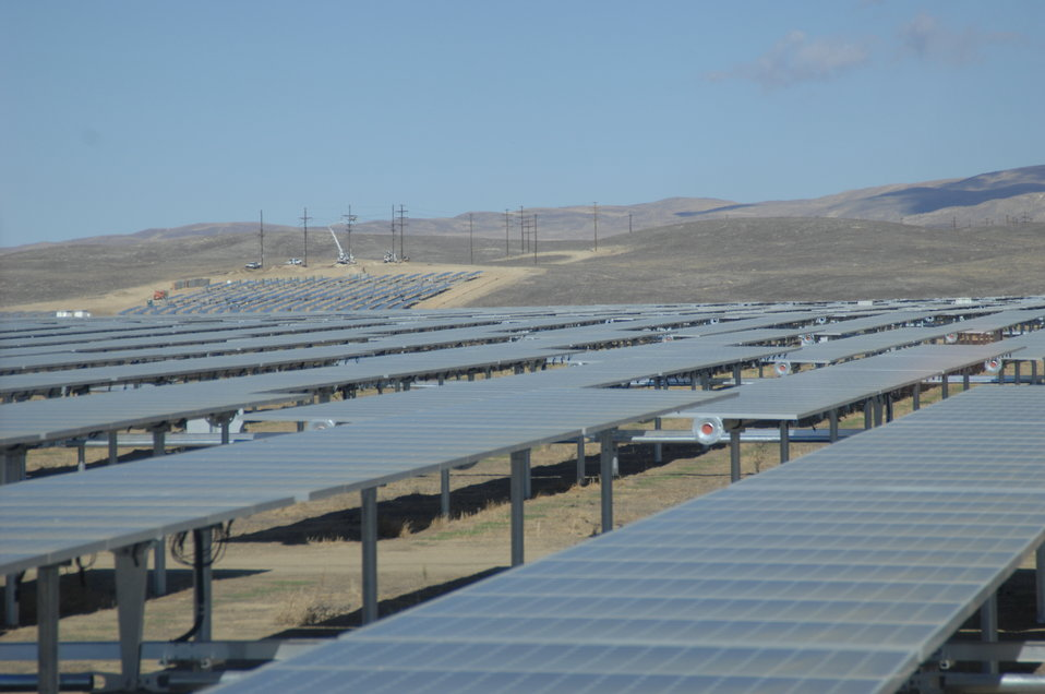 Solar Panels at California Valley Solar Ranch 2