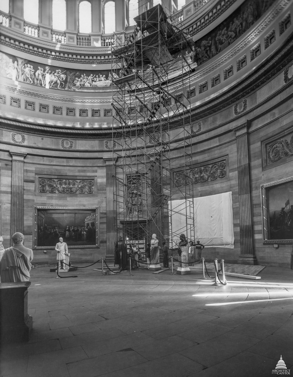 Scaffolding in Rotunda - 1953