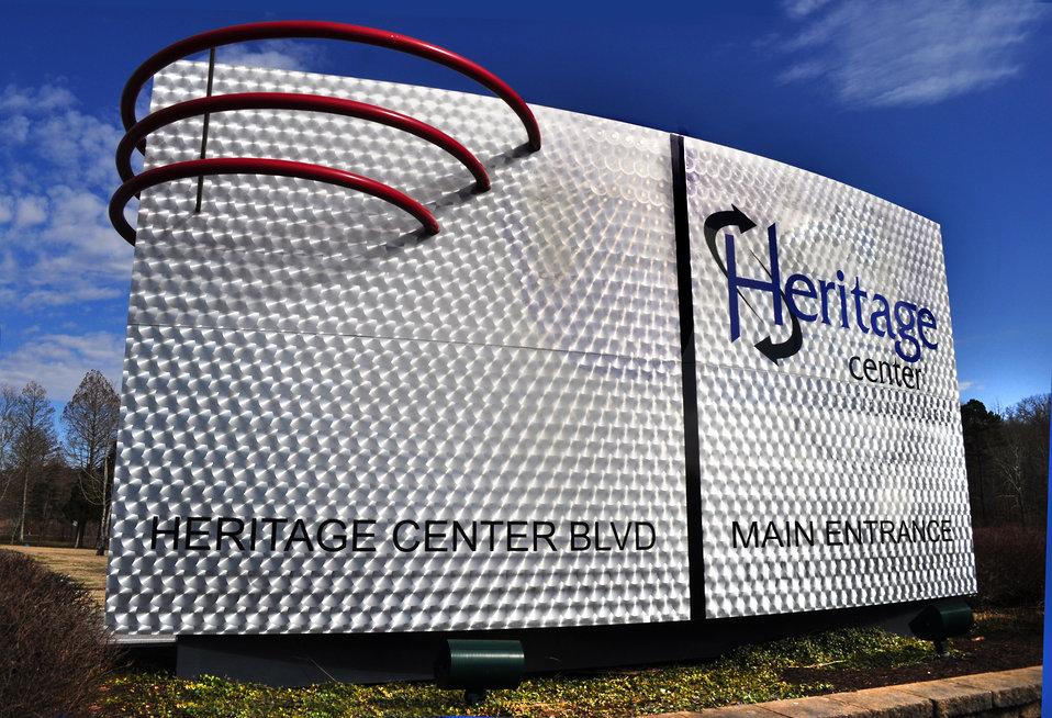 New Heritage Center Sign at ETTP Oak Ridge