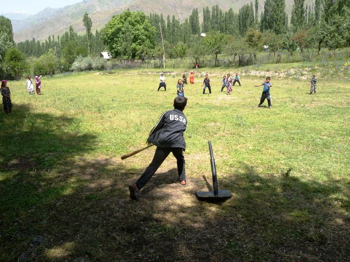 Tajik Youth Play Baseball