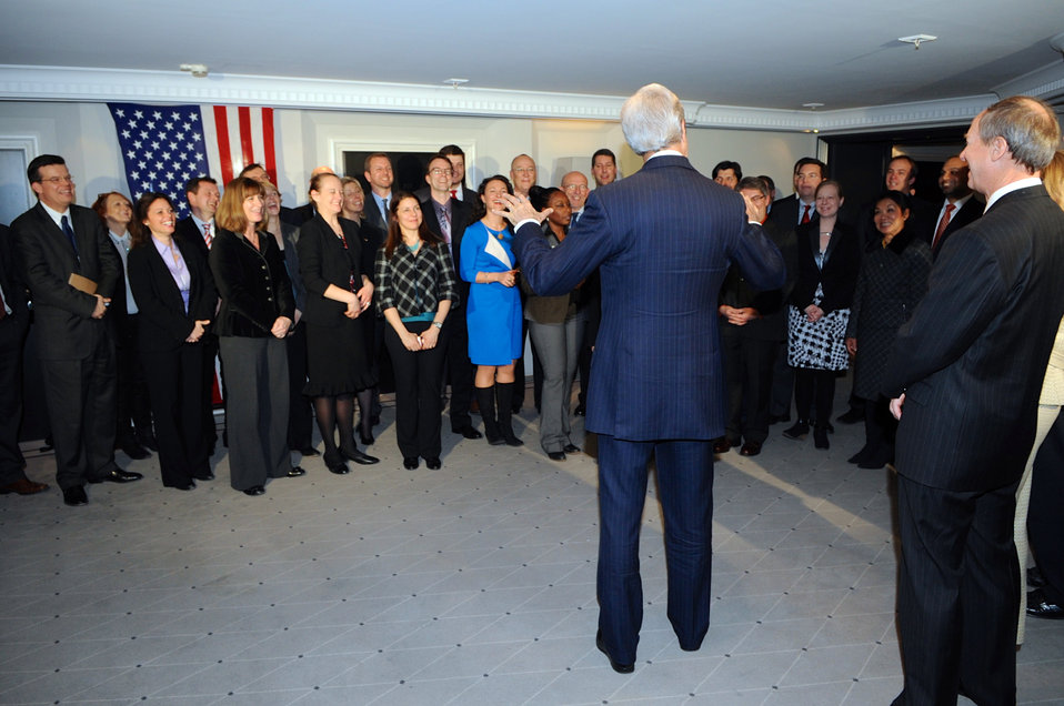 Secretary Kerry Thanks State Department Workers Who Supported Munich Security Conference