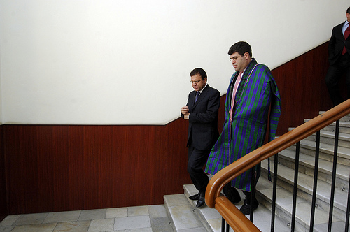 Afghan Finance Minister Zakhilwal and Deputy Secretary Wolin after their meeting