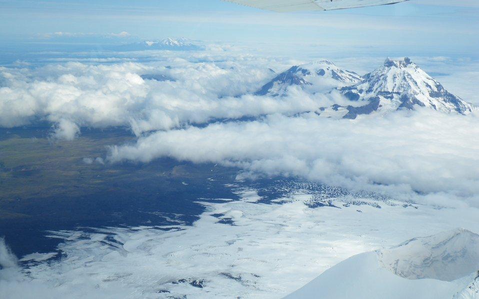 View from Shishaldin Volcano to NE