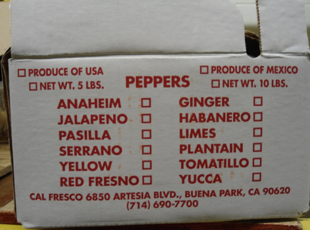 RECALLED - Jalapeño and Serrano chili peppers