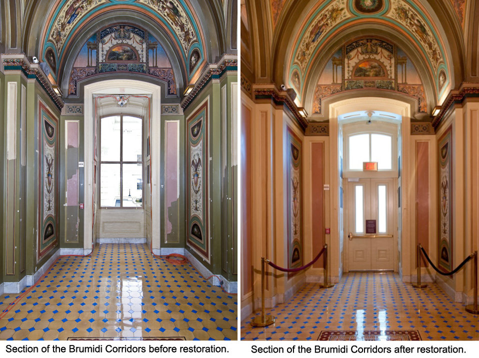 Restoration of the Brumidi Corridors