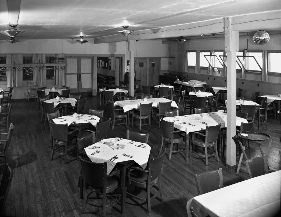 Grove Hall Interior Oak Ridge 1948