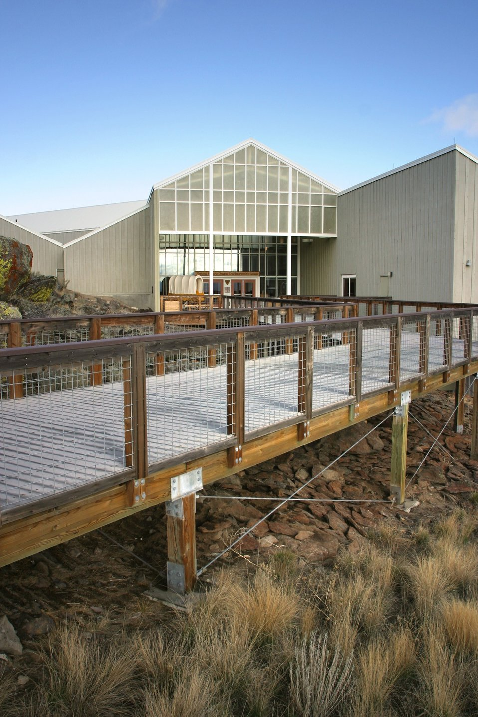 National Historic Oregon Trail Interpretive Center entrance.
