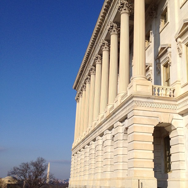 Blue skies at the Capitol this morning.