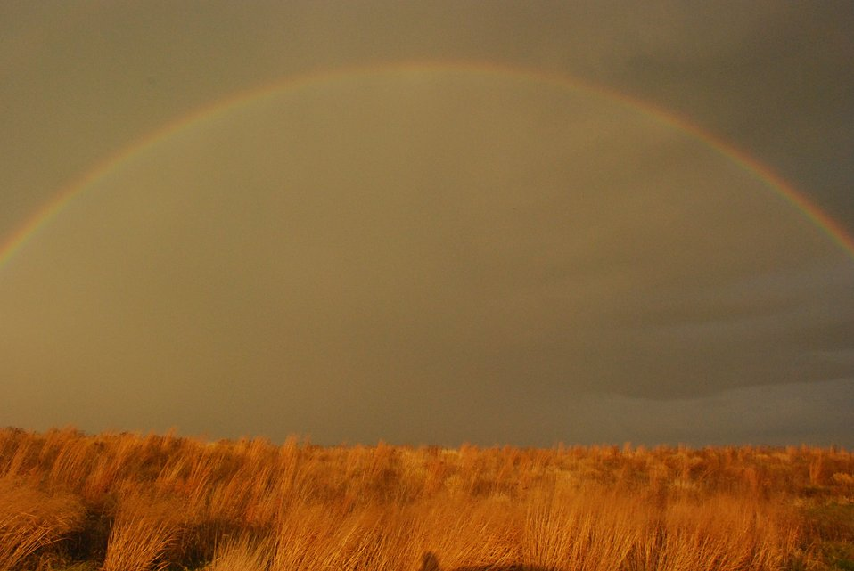 Rainbow over prairie, Neal Smith Refuge